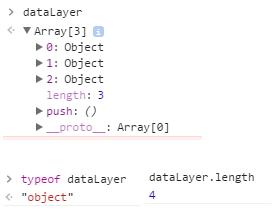 """Analyse de l'objet JS """"dataLayer"""" dans la console de développement"""