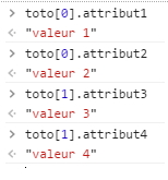 Requêtage d'attributs dans une variable de type tableau en Javascript