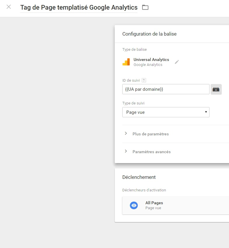 Utilisation d'une variable Javascript dans GTM pour router sur le bon UA Google Analytics