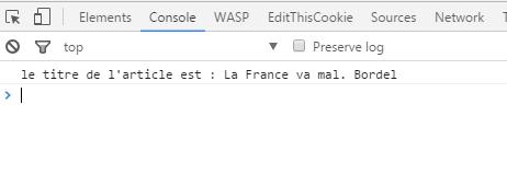 """Affichage d'un attribut envoyé en dur dans le data layer grâce à un tag de type """"HTML custom"""" de GTM"""